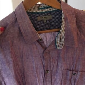 TED BAKER Purple Button Down